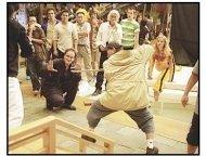 """""""Kill Bill Vol. 1"""" Movie Stills:Quentin Tarantino (L), Master Wo Ping (C) & Uma Thurman"""