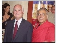 """James Ivory and Ismail Merchant at the """"Le Divorce"""" premiere"""