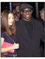 Wesley Snipes and date at the Bandits premiere