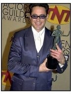 Robert Downey Jr. backstage at the SAG Screen Actors Guild Awards 2001