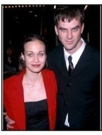 """Fiona Apple and director Paul Thomas Anderson at the """"Magnolia"""" Premiere."""
