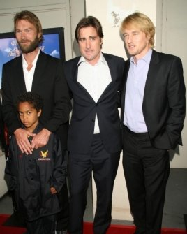 Andrew Wilson with Luke Wilson and Owen Wilson