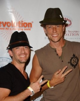 David Faustino and Corin Nemec