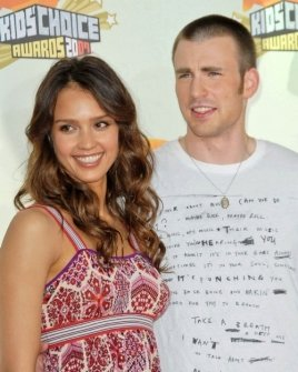 Jessica Alba and Chris Evans