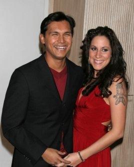 Adam Beach and wife Tara