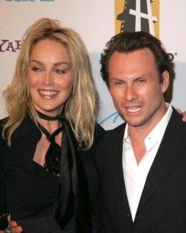 Sharon Stone and Christian Slater