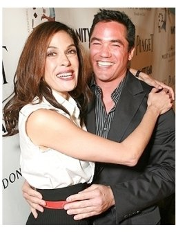 """Teri Hatcher's Book """"Burnt Toast and Other Philosophies of Life"""" Party:  Teri Hatcher and Dean Cain"""