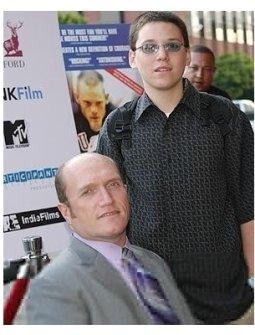 Murderball Premiere: Joe Soares and son Robert