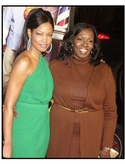 """Garcelle Beauvais-Nilson and mom Marie Claire at the """"Barbershop 2: Back in Business"""" premiere"""