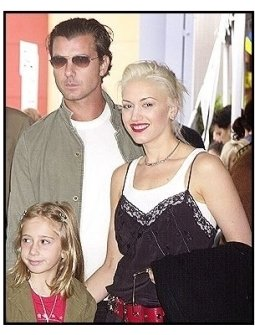 "Gavin Rossdale and Gwen Stefani and her niece Madelaine at ""Dr. Seuss' Cat in the Hat"" premiere"