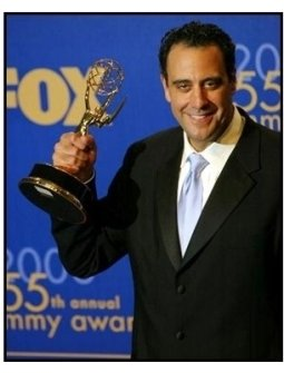 Brad Garrett on the backtage at the 2003 Emmy Awards