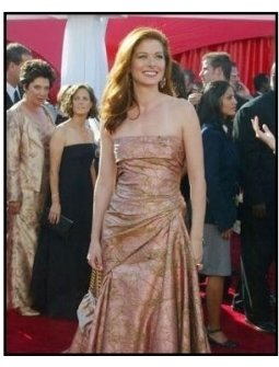 Debra Messing on the red carpet at the 2003 Emmy Awards