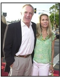 "James Caan and and date at the ""Open Range"" premiere"