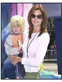 "Cindy Crawford and son Presley Walker Gerber at the ""Finding Nemo"" premiere"
