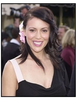 "Alyssa Milano at ""The Matrix Reloaded"" premiere"