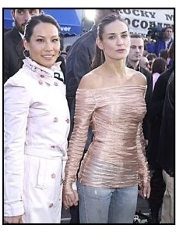"""Lucy Liu and Demi Moore at """"The Matrix Reloaded"""" premiere"""
