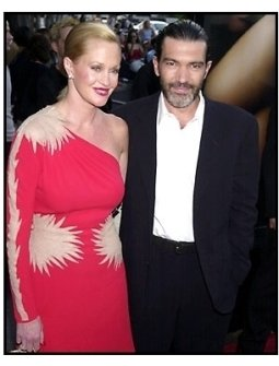 Melanie Griffith and Antonio Banderas at the Original Sin premiere