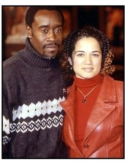 Don Cheadle and Brigid Coulter at The Family Man premiere