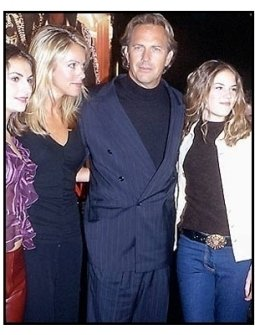 Kevin Costner and date and daughters at the 3000 Miles to Graceland premiere
