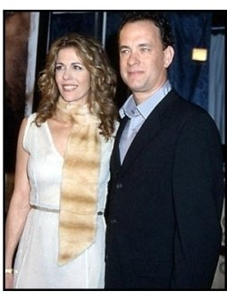 Tom Hanks and Rita Wilson at the Cast Away premiere