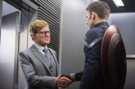 Robert Redford and Chris Evans, Captain America The Winter Soldier