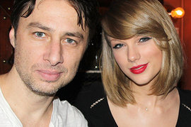 Zach Braff and Taylor Swift
