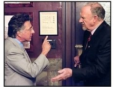 """Runaway Jury"" Movie Still: Gene Hackman and Dustin Hoffman"