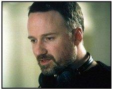 "Panic Room movie still: Director David Fincher on the set of ""Panic Room"""