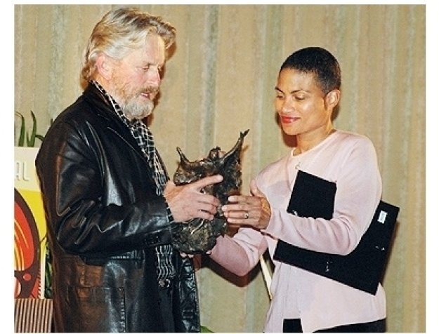 Bermuda Film Fest:  Michael Douglas and Aideen Ratteray Pryse