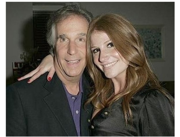 Lucky Magazine Party Photos:  Henry Winkler and Zoe Winkler