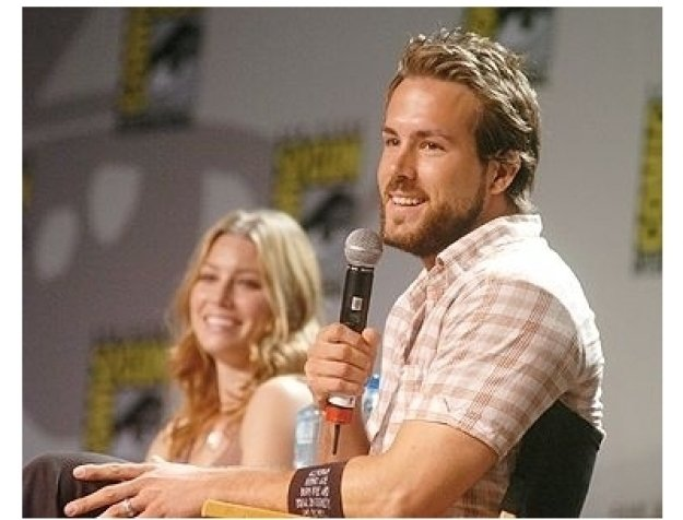 "Comic-Con 2004 still: Ryan Reynolds at the ""Blade:Trinity"" Panel"