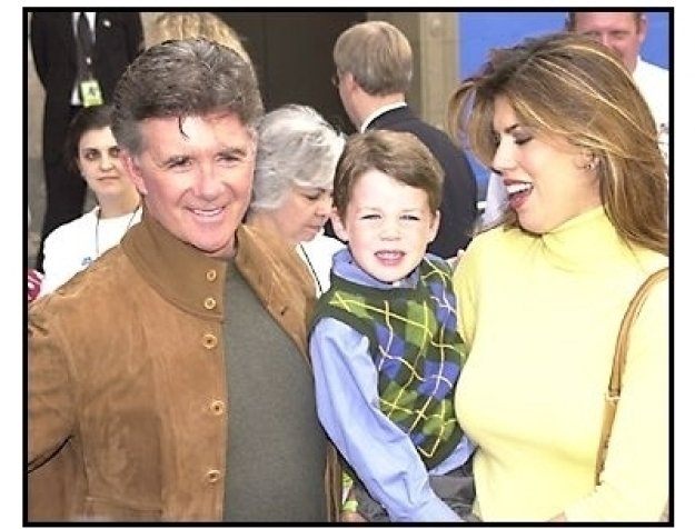 Alan Thicke and date at the Monsters Inc. premiere