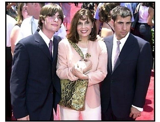 Talia Shire and Robert and Jason Schwartzman at The Princess Diaries premiere