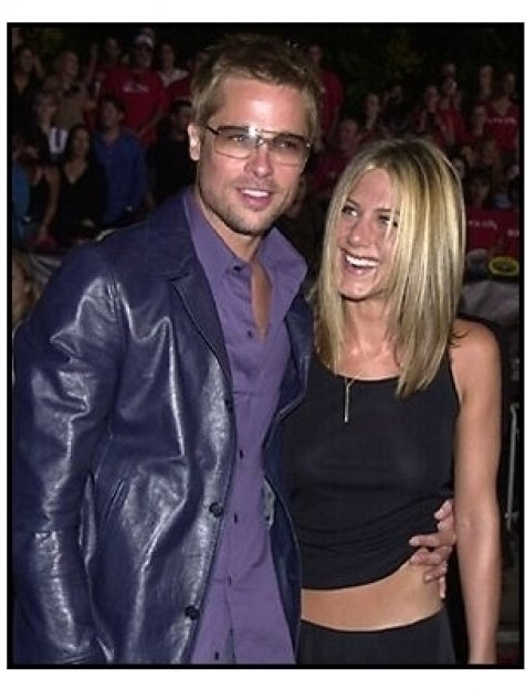 Brad Pitt and Jennifer Aniston at the Rock Star premiere