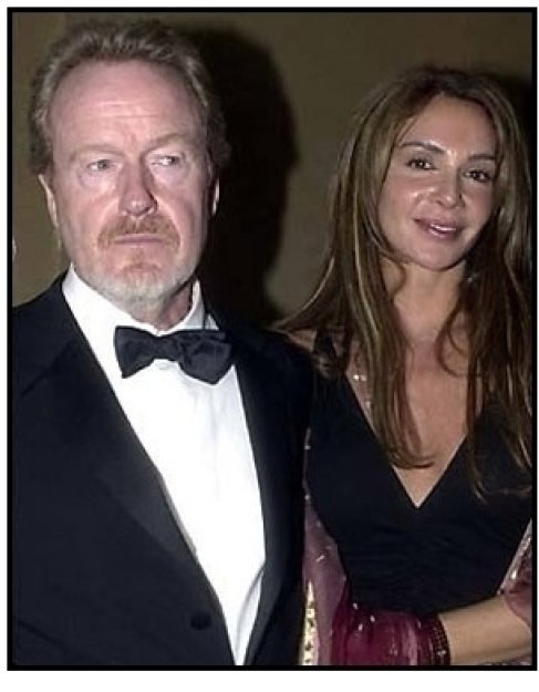 Ridley Scott and date at the 2001 Golden Globe Awards DreamWorks / Universal Party