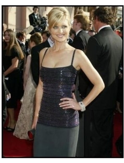 Courtney Thorne-Smith on the red carpet at the 2003 Emmy Awards
