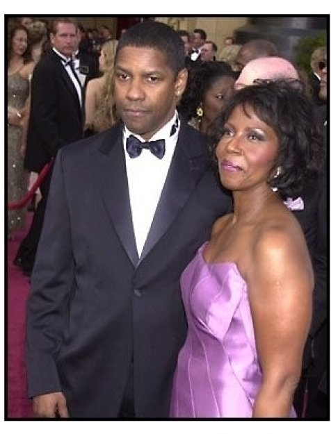 Denzel Washington and wife Pauletta Pearson at the 2002 Academy Awards