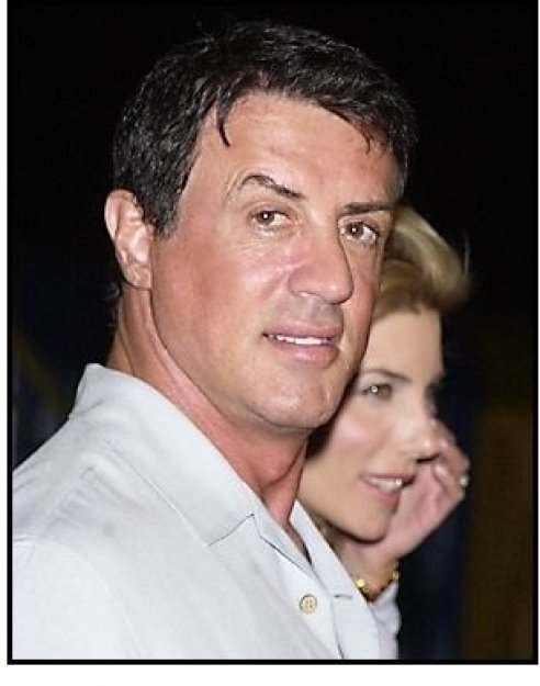 """Sylvester Stallone and wife Jennifer Flavin at the Los Angleles premiere of Cirque Du Soleil's latest production """"Varekai"""""""