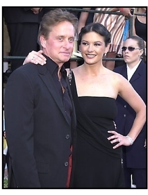 Michael Douglas and Catherine Zeta-Jones at the America's Sweethearts premiere