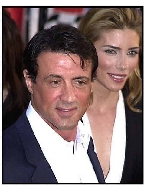 Sylvester Stallone and wife at the Driven premiere