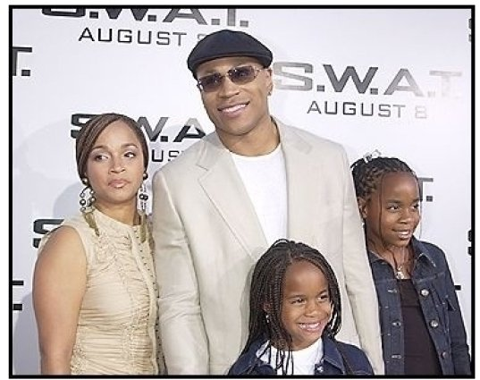 """LL Cool J and family at the """"S.W.A.T."""" premiere"""