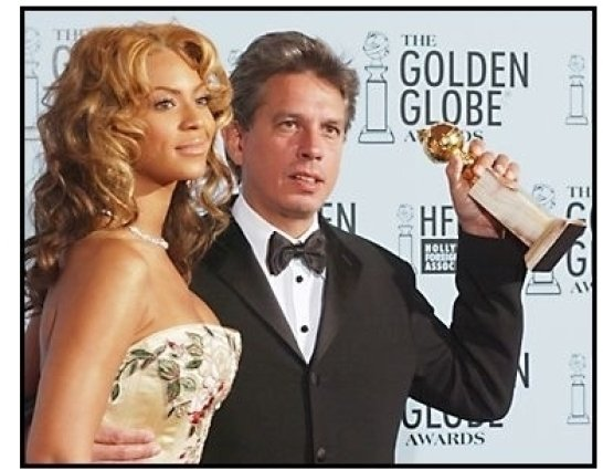 2003 Golden Globe Awards Backstage: Beyonce Knowles and Elliot Goldenthal